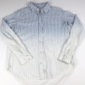 3/$25 Mossimo Button Down Striped Ombré Top XS